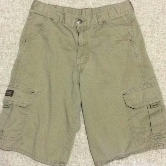 Wrangler boys 14 khaki shorts